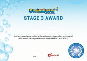 Swimsafer stage 3 certification Condo Swimming Lesson